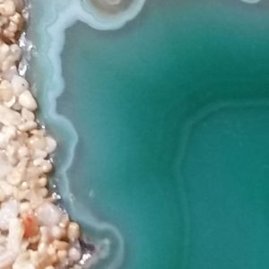 image of green agate sand candles