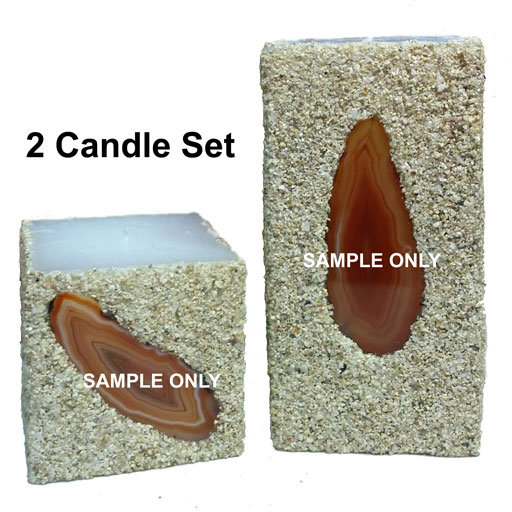 natural 2-candle set