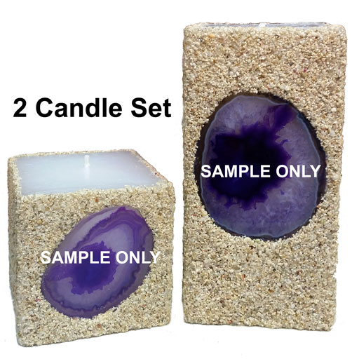 purple 2-candle set