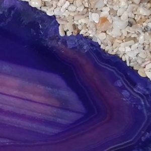 purple agate sand candles