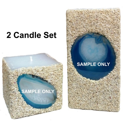 teal 2-candle set