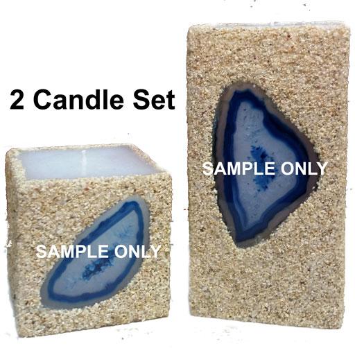 blue 2-candle set