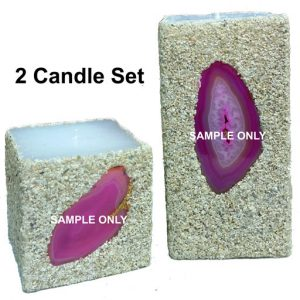 pink 2-candle set